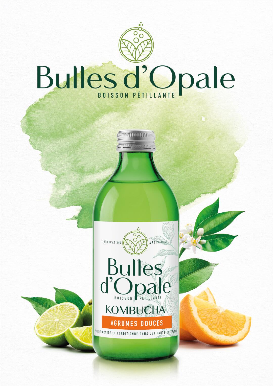Agrumes douces, Kombucha bio Bulles d'Opale